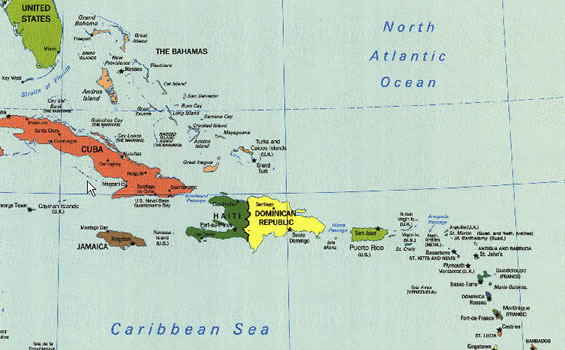Indigo Moon Offshore Passage To BVI - Map of cuba and southeast us